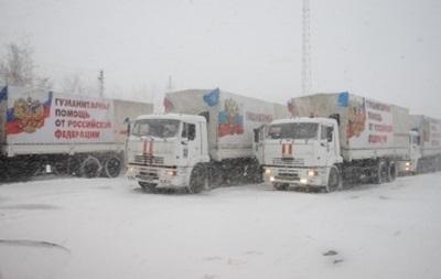 Усі вантажівки російської гуманітарної колони повернулися з Донбасу в РФ