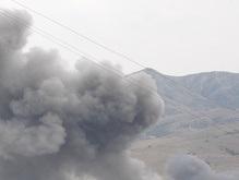 Российская авиация разбомбила райцентр Каспи