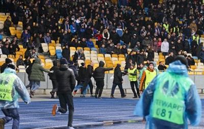 Заворушення на матчі Динамо - Генгам: Відео з місця подій