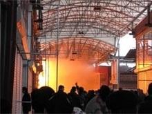 В Харькове локализован пожар на рынке Барабашово. Жертв нет