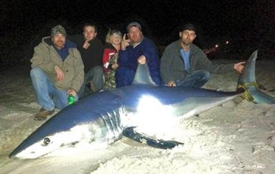 Американський рибалка впіймав 270-кілограмову акулу