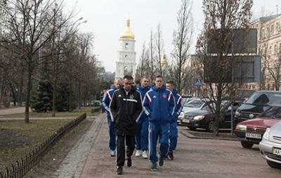Футболисты голландского Аякса прогулялись по Киеву