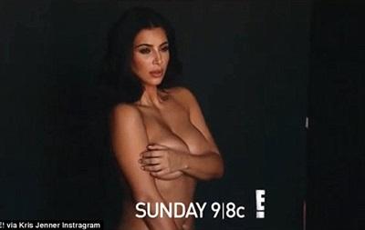Ким Кардашьян последний раз оголилась перед беременностью