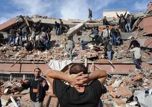 Землетрясение в Турции: Число жертв возросло до 264 человек