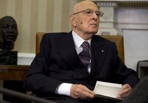 Президент Италии Джорджо Наполитано согласился пойти на второй срок