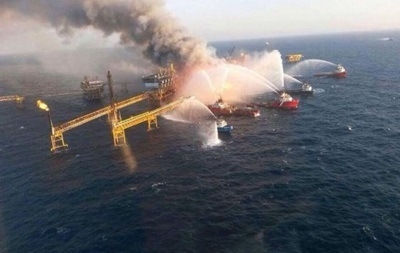 На нефтяной платформе в Мексиканском заливе потушен пожар