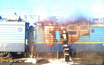 В Винницкой области горел локомотив