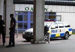 В одном из банков Стокгольма вооруженный грабитель захватил заложников