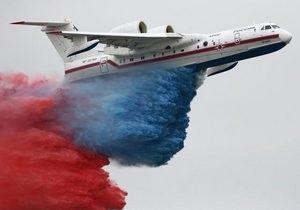 Французы не разрешили россиянам сбросить с самолета воду, окрашенную в цвета триколора