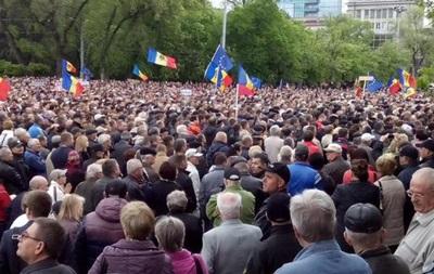В Кишеневе проходит демонстрация против коррупции