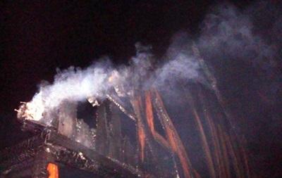 В Сорочинцах сгорел выставочный дом
