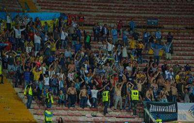 Украинских болельщиков после матча в Неаполе час продержали на стадионе