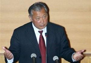 Бакиев предложил ввести в Кыргызстан миротворческие силы ООН