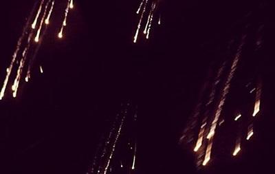 Штаб АТО показав фото обстрілу Пісків фосфорними боєприпасами