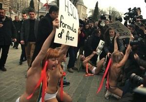 Активисток FEMEN задержали в Стамбуле
