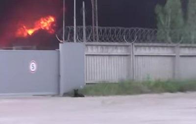 Верный друг. Собака охраняет горящую нефтебазу под Киевом