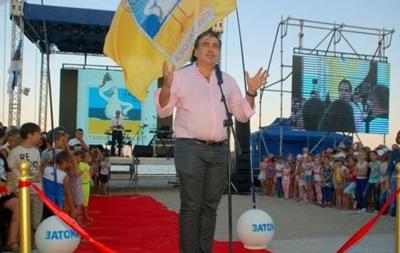 Саакашвили открыл новую набережную под Одессой
