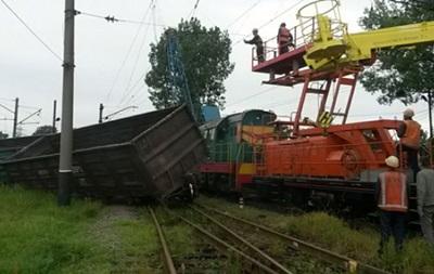 Во Львове сошли с рельсов грузовые вагоны