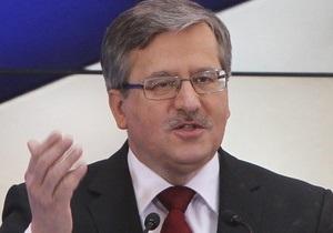 Коморовский не хочет быть посредником в диалоге между украинской властью и оппозицией