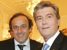 Ющенко встретился с Платини: Евро-2012 пройдет на высшем уровне