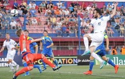Евро-2015 (U-19). Украина в стартовом поединке проигрывает Греции