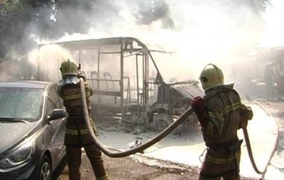 В Сумах сгорела маршрутка