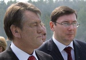 Ющенко считает неадекватным содержание Луценко под стражей