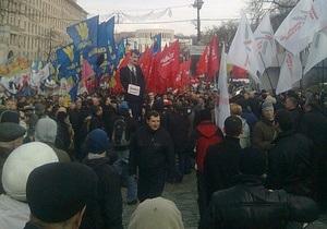 Партия регионов - Рада - митинг - выборы мэра Киева - Партия регионов открестилась от митинга за евроинтеграцию под Радой
