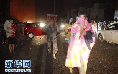 В результате мощного взрыва в Китае погибли не менее семи человек