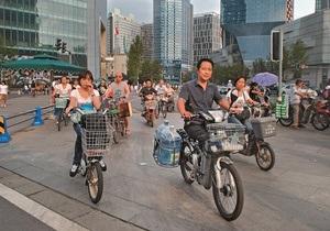 Китайские чиновники пересядут на велосипеды и будут ходить пешком