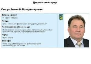 В ДТП погиб депутат Днепропетровского облсовета от Партии регионов
