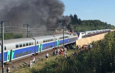 Во Франции на ходу загорелся скоростной поезд