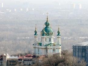 В Киеве начали укреплять склон, на котором стоит Андреевская церковь