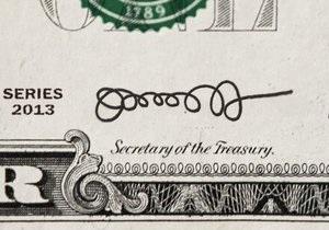 Глава Минфина США изменил свою подпись, которую блогеры окрестили  сумасшедшей соломинкой  - газета