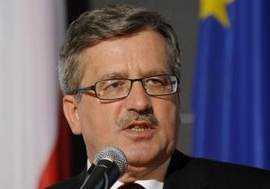Коморовский называет призывы к бойкоту Евро-2012 в Украине  полностью неадекватными