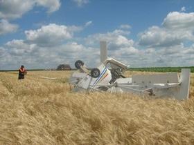 В Одесской области при падении самолета погиб пилот
