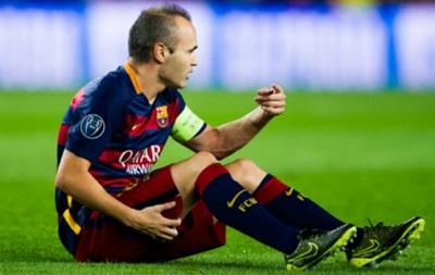 Следом за Месси: Барселона потеряла Иньесту на 4-6 недель