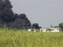 Железнодорожный инцидент в США: сошел с рельсов и загорелся грузовой поезд