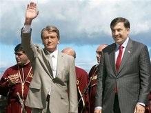 Ющенко и лидеры четырех стран вылетили из Крыма в Грузию