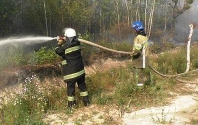 В лесах Киева за ночь произошло три пожара