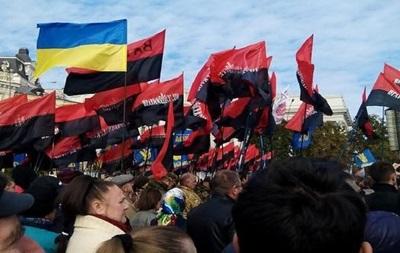 В Киеве во время  Марша героев  прогремел взрыв