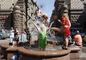Киевские фонтаны включат 1 мая