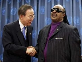 Пожарная тревога помешала назначению Стиви Уандера посланником ООН