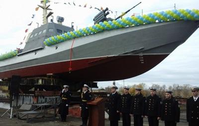 Турчинов спустил на воду новый военный катер