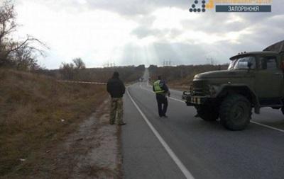 Самолет Су-25 упал в Запорожской области
