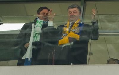 Порошенко поблагодарил сборную Украины за победу над Словенией