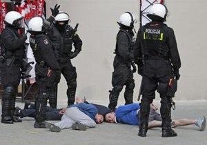 В Польше полиция задержала 130 футбольных болельщиков