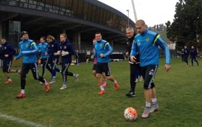 Сборная Украины провела первую тренировку в Словении
