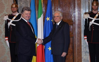 Президент Італії: Події довкола Сирії не знизять актуальність українського питання