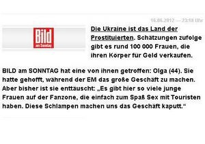 Украинцы в Германии возмущены статьей, в которой Украину назвали  страной проституток